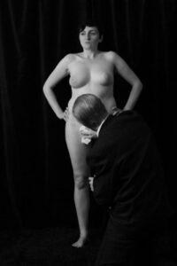 Shaving the baroness
